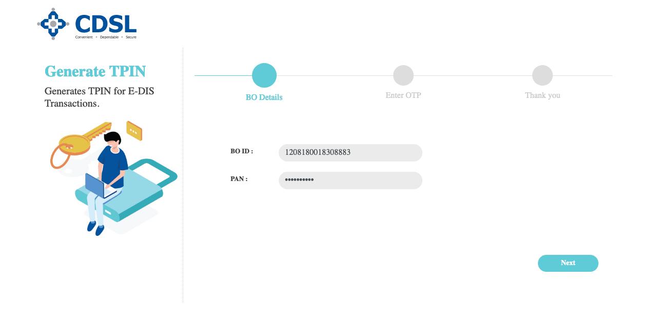 Upstox Generate Pin