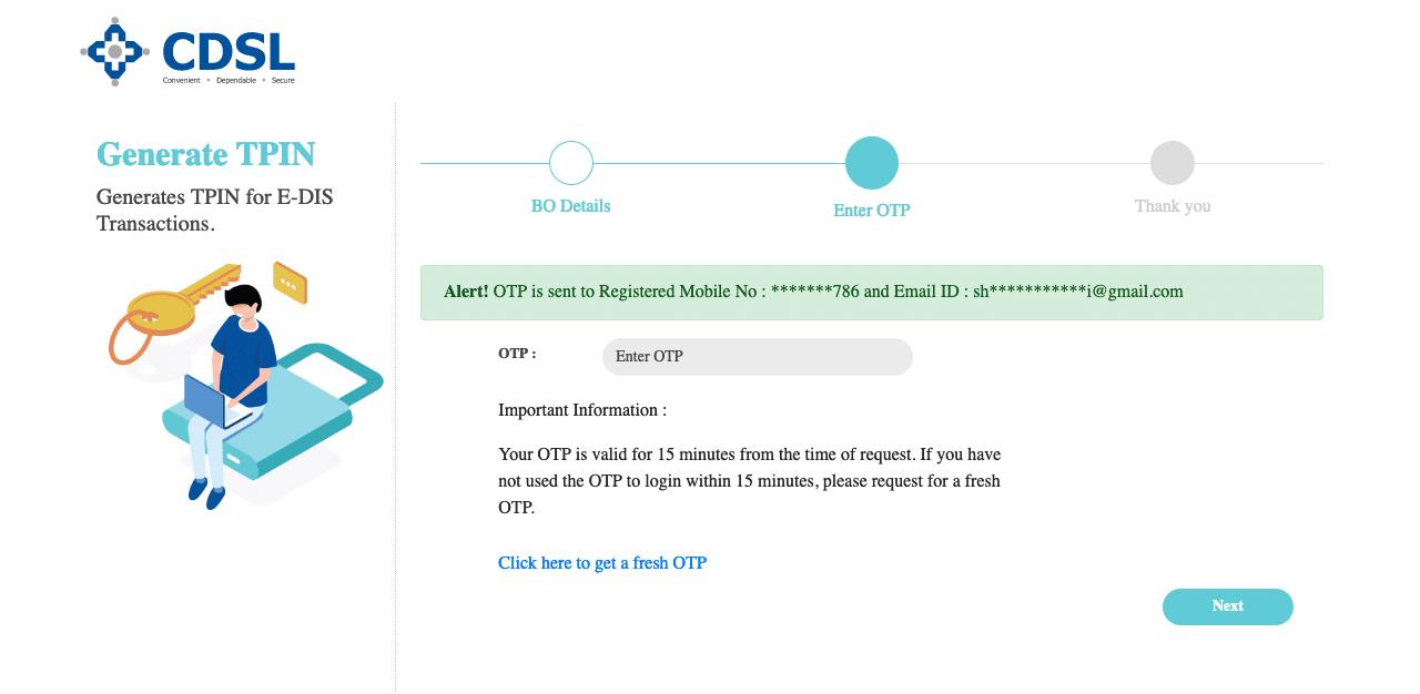 Upstox Verify Pin